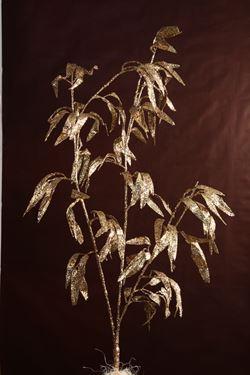Immagine di Ramo extrafoglie oro/rame, h.cm105