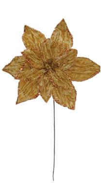 Immagine di Ramo poinsettia oro, h. cm 44