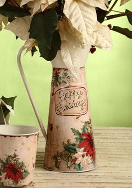 Immagine di Caraffa latta Stella di Natale h.cm37.5