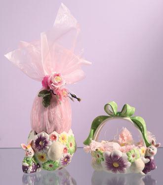 Immagine di Contenitore Bunny in ceramica, cm22x15.3xh.19