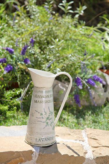 Immagine di Brocca in latta panna h.29 x diam. int. alto 7 cm