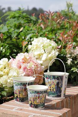 Picture of S/3 contenitori tondi in latta ARTISTES d15xh15-d13xh13,5-d11xh12