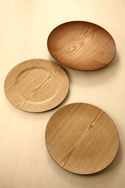 Picture of Piatto fondo finitura legno, plastica,D33cm