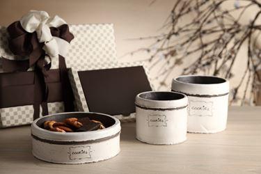Picture of Contenitore cookies, bianco, cemento,19.5x19.5xH6.5cm