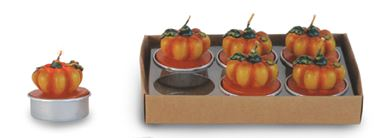 Picture of S/6 Candele zucca, h. cm 5