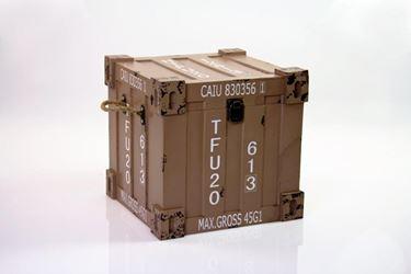 Immagine di S/2 Baule container, mdf rivestito, tortora, 30x30xh.30cm,25x25xh.25cm