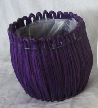 Immagine di Cesto tondo viola, int.plastica,  D15xH15cm