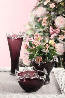 Immagine di Ciotola Crystal in vetro opaco bordeaux, D24cm, H15cm