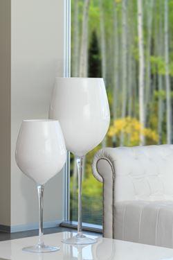 Immagine di Vaso ALBIN in vetro bianco  h.100cm d.30cm
