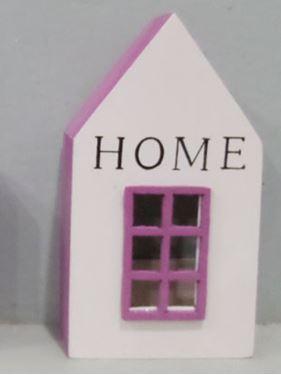 Picture of Contenitore, HOME, legno, piccolo, bianco/fuxia, 6.5x4.5xH12cm