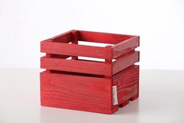 Picture of Cubo legno bordeaux, 15x15xh.15cm