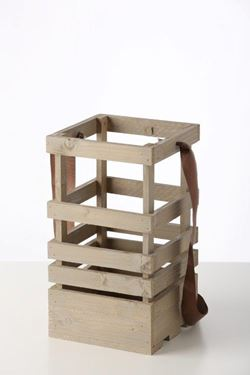 Picture of Lanterna legno tortora, 19x19xh.45cm senza manico