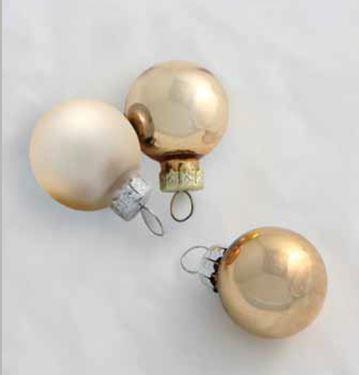 Immagine di Box 144 sfere oro/panna, diam.mm20