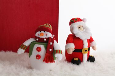Immagine di S/2 Contenitori Santa Klaus/Snowman rossi/verdi/bianchi h.28cm d12cm