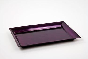 Immagine di Piatto rettangolare di plastica,fuxia, 25x35xH1.8cm