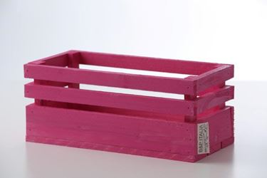 Picture of Cassetta legno fuxia, 30x15xh.15cm