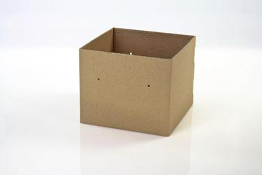 Picture of Cubo box cartone 25x25xh.20 avana, steso, nastro a parte