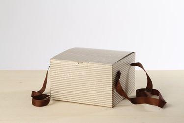Picture of Box 24,5x24,5x15h, STRIPES, champagne, steso