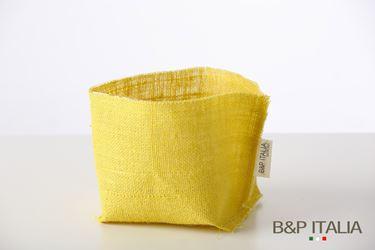 Immagine di SACCOTTINO juta gialla 12x12, PPL interno
