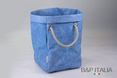 """Immagine di SACCA """"Elizabeth"""" fibra cellulosa Color, azzurro, cm32x40xh.60"""