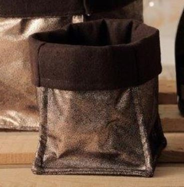 Picture of Cubo, suede, ramecm.15x15x23h