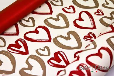Immagine di Bobina, Perlato,  h.cm100, ART LOVE, rosso/tortora
