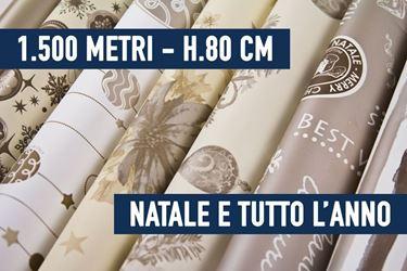 Immagine di BOBINE STOCK - 1500 METRI BOBINE NATALE E TUTTO L'ANNO ASSORTITE H. 80 CM