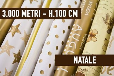 Immagine di BOBINE STOCK - 3000 METRI BOBINE NATALIZIE ASSORTITE H. 100 CM