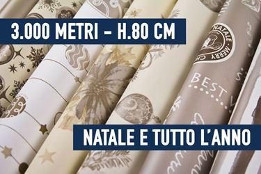 Immagine di BOBINE STOCK - 3000 METRI BOBINE NATALE E TUTTO L'ANNO ASSORTITE H. 80 CM