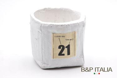 Immagine di Contenitore 21 piccolo quadrato,bianco, porcellana,11x11xH9.5cm