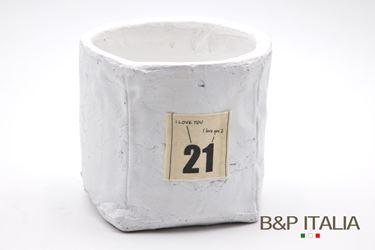 Immagine di Contenitore 21 grande quadrato,bianco, porcellana,14x14xH12.5cm