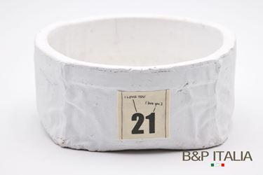Immagine di Portavaso 21 rotondo, bianco,ceramica, 21x21xH9cm