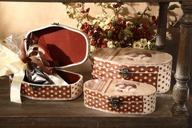 Immagine di S/3 Cofanetti Chocolat ovali, cm30.5x21xh.10.5
