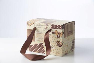 Picture of Box 30x18x30h CHOCOcrema/marrone steso