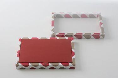 Immagine di Scatola 23x16,5x3h  LOVE '80, rosso/tortora, stesa