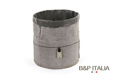 Picture of POT ECO EQUO XL, Juta, waterproof,Grigio Ch./Grigio Sc., d.35xh.35cm