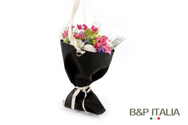 Picture of Porta bouquet, diam.cm28xh.48Cuoio Corium nero, c/occ