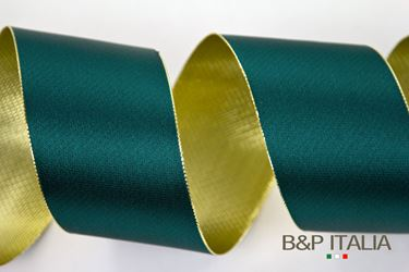 Picture of Nastro DOUBLE LUX verde/oro 60mmx50mt.