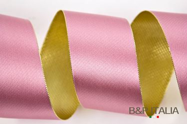 Picture of Nastro DOUBLE LUX rosa/oro 60mmx50mt.