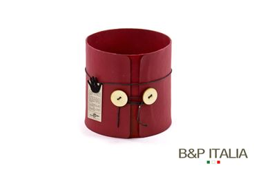 Picture of S/2 POT ECO EQUO BUTTONS, waterproof,Rosso, d15xh15cm, d17xh17cm