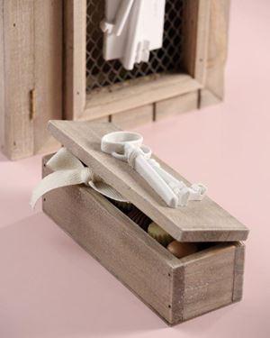 Immagine di Scatola chiave, legno, naturale, 17x6xH6.5cm