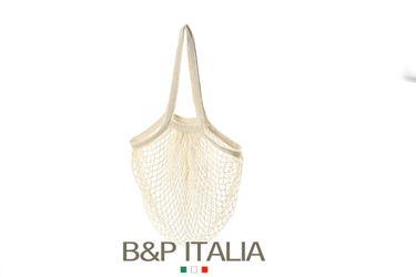 Picture of Borsa RETE, cotone organico, crema, cm35x40, manico da spalla