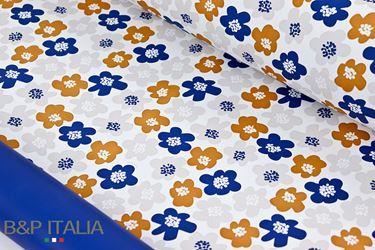 Picture of Bobina, Perlato, h.cm100, PRATO FIORITO, blu/marrone chiaro,prof.miele