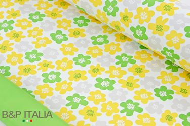 Picture of Bobina, Perlato, h.cm100, PRATO FIORITO, giallo/verde chiaro,prof.olea