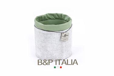 Picture of Contenitore ECO EQUO JUTA waterproof,bianco/salvia, d.19xh.19cm