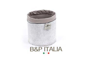 Picture of Contenitore ECO EQUO JUTA waterproof,bianco/tortora, d.19xh.19cm