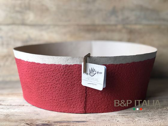 Picture of ZERO WASTE BOWL, waterproof, naturale/rosso, D. 30xH.10cm
