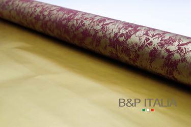 Picture of *Bobina h.100 Perlato bistampatoSPUGNATO bordeaux/oro, 50 mt